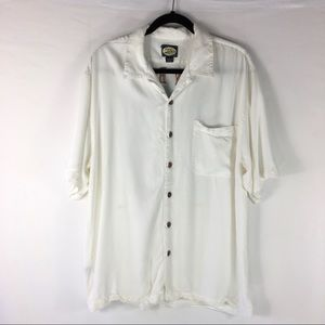 Tommy Bahama Embroidered Camp Shirt Sz Large